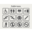 Public information icons set vector image