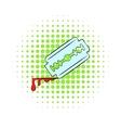 Razor blade icon comics style vector image vector image