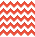 Red and White Zigzag Pattern vector image vector image
