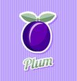 Retro plum vector image vector image