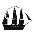 sailboat icon simple style vector image vector image