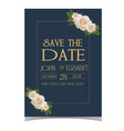 save the date gold text purple dark blue backgroun vector image