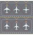 seamless pattern with airplanes on the terminal vector image