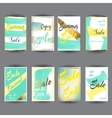 set abstract bright summer sale party vector image vector image