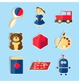 Set of icons for toys store vector image vector image