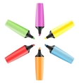 Set of realistic colored markers vector image vector image
