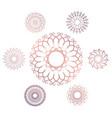 set of seven geometric circular elements vector image
