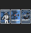 space explore astronaut academy posters vector image