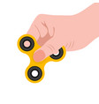 spinner in the hand a toy for stress removal vector image