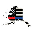 state alaska police and firefighter support vector image vector image