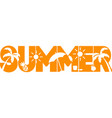 summer on white background vector image vector image