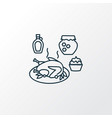 thanksgiving dinner icon line symbol premium vector image