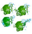 trash can logo vector image vector image