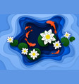 water lily background paper art vector image