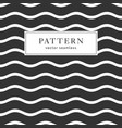 waves geometric seamless pattern vector image