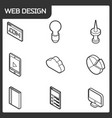 web design outline isometric icons vector image vector image