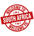 welcome to south africa red stamp vector image vector image