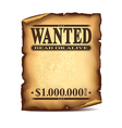 Wintage wanted poster isolated