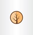 cracked wood tree logo icon vector image