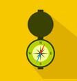 hunting compass flat icon cartoon style vector image