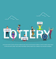 lottery concept set with winning combinations flat vector image