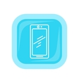 Mobile Phone Icon Isolated Cellphone Communicator vector image