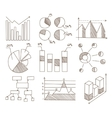 Graphs Charts and Diagrams Hand Drawn Business vector image