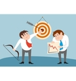 Businessman characters winner and loser concept vector image