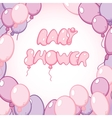 Template for baby shower card vector image