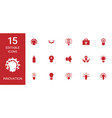 15 innovation icons vector image vector image