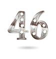 46 years anniversary celebration design vector image vector image