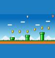 8 bit pixel art platformer game asset vector image vector image