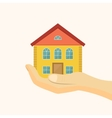 Affordable housing icon House in hand vector image vector image
