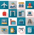 Airport Service Flat Icons vector image vector image