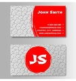 Asian style template business card vector image vector image