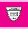 barber shop logo design vintage label badge vector image vector image