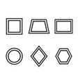 basic geometric shapes icon set vector image