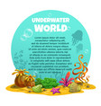 beautiful bright unferwater background vector image vector image