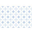blue floral pattern seamless flower background vector image vector image