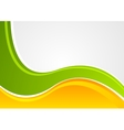 Bright green and orange wavy corporate background vector image vector image