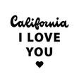california retro lettering vector image vector image