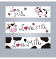 Cartoon cow web banner vector image vector image
