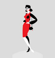 character a fashionable lady the image of vector image vector image