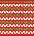christmas ribbon chevron background seamless vector image vector image