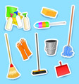 cleaning equipment set of icons vector image