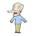 comic cartoon old man gasping in surprise vector image vector image