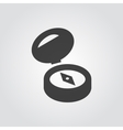 Compass black icon sign and symbol vector image