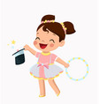 cute little girl in a vector image