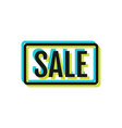 discount or sale flat icon object for design vector image