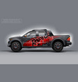 editable template for wrap suv with abstract vector image vector image